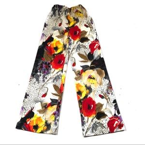 Amazing vintage 70's floral bell bottoms pants